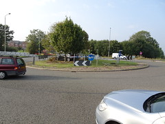 Round-a-straight about (stevenbrandist) Tags: audi slinetdi car collision damage roundabout error leicestershire mountsorrel motoring ao60yrp