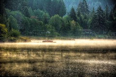Morning Mist On The Lake (gr8fulted54) Tags: lake water mist tonemapped hdr photomatix on1 noiseless nikon d7100
