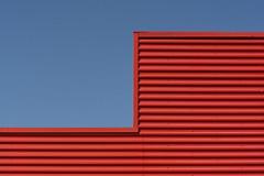 Red and blue (on Explore) (Jan van der Wolf) Tags: map158555v building gebouw lines lijnen interplayoflines playoflines composition compositie red redrule rood blue blauw minimalism minimalistic minimalisme minimal simple simpel