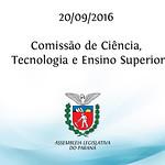 Comiss�o de Ci�ncia, Tecnologia e Ensino Superior 20/09/2016
