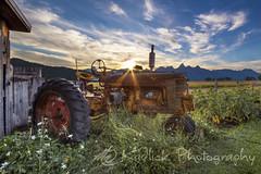 Flower Pot (M@ Kadlick) Tags: tetons grandtetons tractor sunset farm matt kadlick