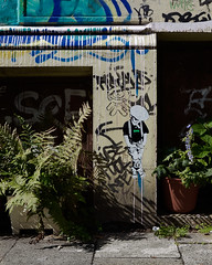 HH-Wheatpaste 3043 (cmdpirx) Tags: hamburg germany reclaim your city urban street art streetart artist kuenstler graffiti aerosol spray can paint piece painting drawing colour color farbe spraydose dose marker stift kreide chalk stencil schablone wall wand nikon d7100 paper pappe paste up pastup pastie wheatepaste wheatpaste pasted glue kleister kleber cement cutout