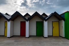 Colorful beachhuts in Swanage (orkell) Tags: kofar swanage beach england doors cloudy huts colourful sigma24mmf14dghsmart 2016 nikond750 strnd clouds