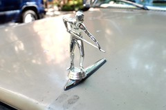 Shiny and chrome (pburka) Tags: hood ornament car vehicle snooker billiards cue player chrome silver vintage custom mirrored figure statuette pool