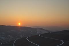 Warm sun over frozen land (fnumrich) Tags: winter sun sonne weitblick cold frost kalt weinberg vineyard hills hgel foresight