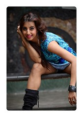 South Actress Sanjjanaa's Never give up tatoo (1)