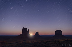 Monument Valley Full Moon Rising (Russell Eck) Tags: monument valley utah indian reservation russell eck long exposure night photography stars startrails travel sky color nikon landscape nature desert