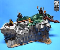 LoR:TGWI:Grimfell:Main (Crazy crownie guy) Tags: lego lor garheim island grimfell medieval fantasy green grey