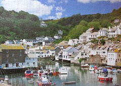 Polperro Harbour, Cornwall (pefkosmad) Tags: jigsaw puzzle leisure hobby pastime 1000pieces complete
