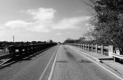 US Highway 90 Overpass over GC&SF Railway, Sealy, TX 1212051129BW (Patrick Feller) Tags: santa county railroad bridge burlington austin coast us highway texas gul