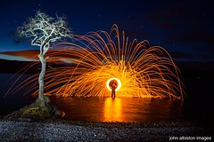 lone tree lightpainting (john&mairi) Tags: longexposure lightpainting night twilight loch lochlomond lonetree wirewool millarochy millarochybay