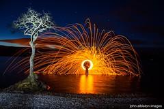 lone tree lightpainting (john&mairi) Tags: longexposure lightpainting night twilight loch lochlomond lonetree wirewool millarochy millarochybay