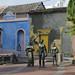 Una piazzetta nel quartiere Getzemani di Cartagena