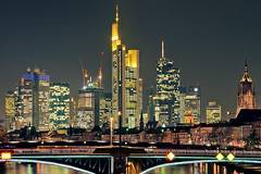 Downtown Frankfurt @ Night (_flowtation) Tags: city light streets night clouds reflections germany dark licht nikon downtown hessen skyscrapers cathedral nacht bokeh dom frankfurt main bridges fields lighttrails deutschebank brcke banks museumsufer frankfurtammain commerzbank sparkasse paulskirche sachsenhausen mainriver ubs lightstreams messeturm maintower banken ezb 2470mm mainufer spiegelungen europeancentralbank 2470f28 ignatz unschrfe dzb bubis 2470mm28 commerzbanktower lightstars deutschherrnbrcke downtownfrankfurt lichtspuren ignatzbubisbrcke bokehlicious ignatzbubisbridge lightstar nikon2470mm nikon247028 nikon2470mmf28 flserbrcke d7000 bokeeeeeeh nikond7000 museumsuferfrankfurt darknesslighttrails neweuropeancentralbank germanmenbridge fairtraidetower ignaztbubis