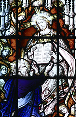 O Adonai (Lawrence OP) Tags: church dominican stainedglass moses law commandments burningbush priory sinai hawkesyard oantiphon oadonai