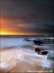 Gone Again (AnthonyGinmanPhotography) Tags: seascape water sunrise flow gariebeach theroyalnationalpark olympuse620 olympus1122mmf28