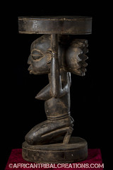 SongyeStool002 (African Tribal Creations) Tags: wood art mask antique african tribal carving figure congo stool drc creations songe handcarved democraticrepublicofcongo songye wasonga songhay basonge bassongo basongye bayembe