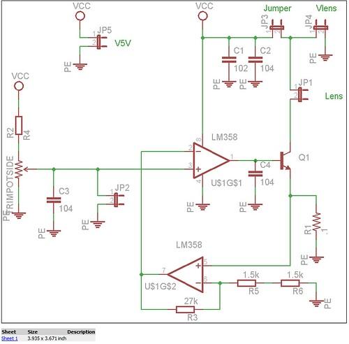 Lens Current Driver V2 Schematic