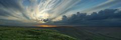 Dark Peak light. (sidibousaid60) Tags: sunset sky panorama clouds derbyshire peakdistrict darkpeak edalevalley highpeak castleton rushupedge kinderplateau