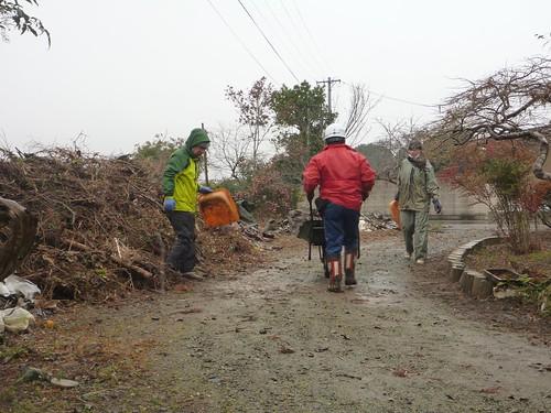 2012年最後の東北ボランティア(南相馬市小高区) Volunteer at Odaka, Minamisoma (Fukushima pref.), Affrected by the Tsunami of Japan Earthquake and Fukushima Daiichi nuclear plant accident