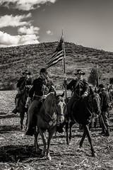 The Flag (FS_photos) Tags: california ca bw canon landscape fun outdoors photography photo blackwhite photos outdoor flag civilwar moorpark conejovalley civilwarreenactment 28135mmis 60d