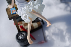 Figures in snow (Stereometric Photography) Tags: snow alter figures menma jfigure anohana anohimitahananonamaewobokutachiwamadashiranai honmameiko