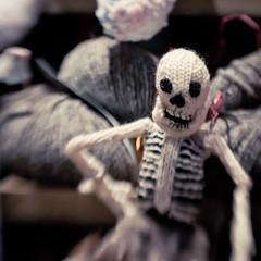 Sup (MMortAH) Tags: christmas york xmas wool night lensbaby skeleton lights nikon bokeh yorkshire north explore shambles composer d90