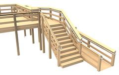 Deck Mounted ADA Railing