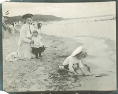 A day at the shore (sctatepdx) Tags: germany sand hats vernacular vintageclothes playinginthesand vintagehats