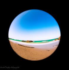 Beach globe (Michael Anthony Jpn) Tags: ocean blue skies fisheye slowshutter zamami 815mm canon5d3 japandiamondbeach