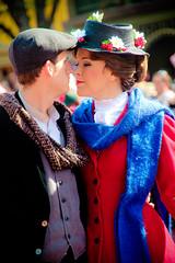 Mary Poppins and Bert (abelle2) Tags: bert disney parade disneyworld wdw marypoppins waltdisneyworld magickingdom christmasparade disneyparade onceuponachristmastimeparade mickeysonceuponachristmastimeparade