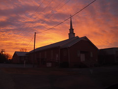 PC300330 (Solarity_1138) Tags: pink blue red sky orange nature beautiful yellow clouds sunrise countryside olympus powerlines pen1