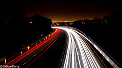A1(M) Co. Durham (Callum Parry) Tags: road county nightphotography light cars night highway long exposure driving durham traffic motorway roadworks trails vehicles a1 roads a1m pattens northernengland highwaysagency