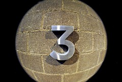 ...Is A Magic Number (Wires In The Walls) Tags: 3 three wideangle 03 number mounted numeral cinderblock onedigit