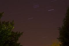Star trails (fizzyvimto) Tags: longexposure sky night cheshire nightsky dslr redsnapper alderleyedge starsinthesky thenightsky tripodphotography redsnappertripod pentaxkr