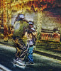 ~~ capoeira ~~ (xandram) Tags: street urban game men photoshop capoeira manipulation textures bridgeportcttonemapped