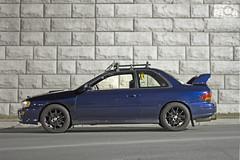 Scoob (DanHelmlingerPhoto) Tags: blue canon 50mm dof rally subaru rs gc8 60d