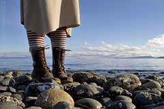 witchy (fog and swell) Tags: beach stripedsocks beanboots
