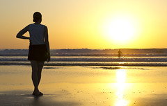 sunset surf (richietown) Tags: ocean sunset sun reflection silhouette canon costarica surf waves surfing 7d nosara playaguiones richietown