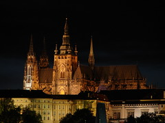 Prask hrad (Prague Castle) (Tjflex2) Tags: trip travel vacation europe day republic nightshot czech praskhrad medieval 20 charlesbridge bohemia middleages hradany praguecastle karlvmost smetanovonbre