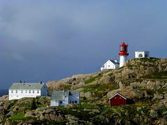 Lindesnes lighthouse,  Norway's southernmost tip (Frans.Sellies) Tags: lighthouse norway day cloudy norwegen fyr lindesnes noorwegen p1030644 lighthousetrek blinkagain