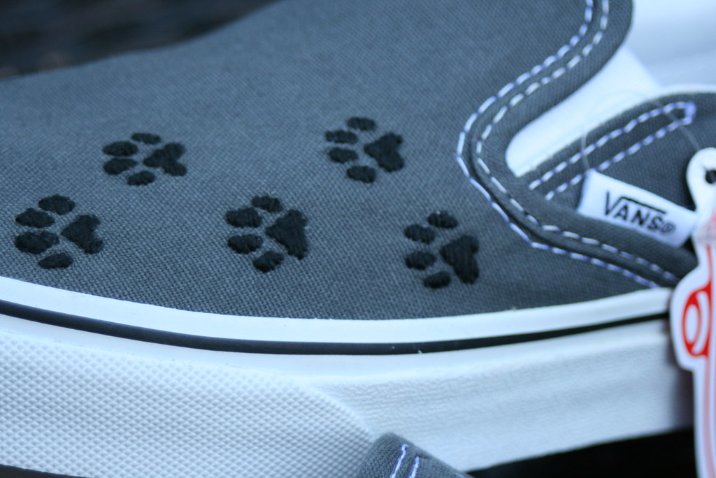 ce03589ebbedce Custom Paw Print Van Shoes (hpolanco) Tags  dog animal cat shoes stitch  embroidery