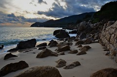 End of the Day in Galapos (Paulo N. Silva) Tags: winter sea beach sand rocks arrabida galapos