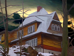 House on the Hill - Winter (Trevor Butcher - Artist) Tags: original winter snow wooden cottage poland features period beams thebp trevorbutcher