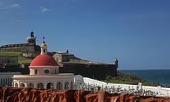 Santa Mara Magdalena de Pazzis Cemetery and El Morro (Jason Neely) Tags: cemetery oldsanjuan puertorico colonial fortress elmorro santamaramagdalenadepazziscemetery