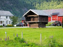 Old cottage. (topzdk) Tags: motorcycle mc norway honda bmw nature solvgardencottages brokke rysstad 2016 summer