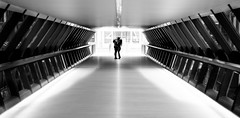 Adams Plaza Couple (Jonathan Vowles) Tags: london canary adams plaza tunnel