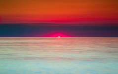 Hazy Sunset (PhotoJacko - Jackie Novak) Tags: sunset warrendunesstatepark lakemichigan michigan nature seascape darylbensonnd3reversegnd leefilternd6softgnd warmtones summer water lightroom