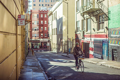 SF Street (ExceptEuropa) Tags: canon6d minoltamcrokkorpg58mmf12 architecture bike biker building ca california canon city color downtown explore passingby people photographer photography sanfrancisco sf somewhere stranger street streetphotography travel urban usa