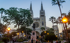 (Marco Ochoa Lpez) Tags: nikon d3100 nikond3100 sunset atardecer guayaquil ecuador catedral blue azul luces lights